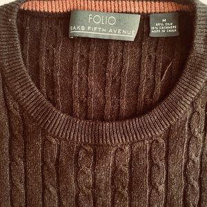 Folio Saks silk and cashmere sweater